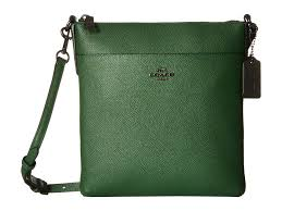 Lyst - Coach Embossed Textured Leather North south Swingpack in Green