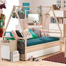 Spot Kids Tipi Bed & Trolley With Trundle Drawer Single Beds