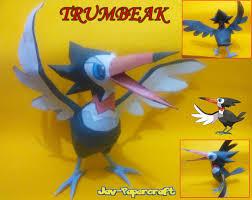 Trumbeak Evolution Chart Pokemon Trumbeak Free Papercraft Download