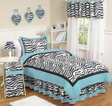 turquoise funky zebra childrens bedding