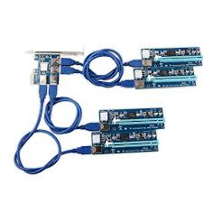 amazon com ubit 4 in 1 pci e riser adapter board 6 pin 16x to 1x ubit 4 in 1 pci e riser adapter board 6 pin 16x to 1x