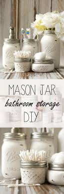 diy bathroom decor ideas. DIY Bathroom Decor Ideas - Mason Jar Storage Accessories Cool Do It Yourself Bath Diy L