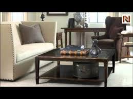 bernhardt vintage patina round end table 322 122