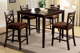 high kitchen table set. Simple Dining Room Design With Square Espresso High Top Kitchen Table Sets,  Finish Wood High Kitchen Table Set