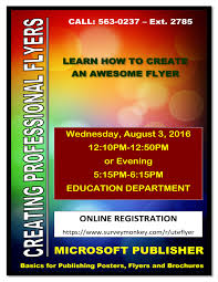 How To Create Flyers The Southern Ute Drum Computer Class Create Flyers