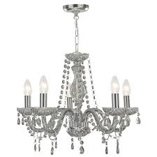 marie therese 5 light chandelier smoked grey lighting direct throughout grey chandelier gallery