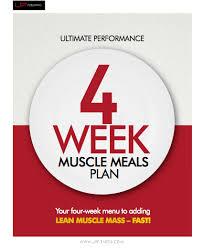 four week meal planner get nicks 4 week muscle guide now ultimate performance marbella