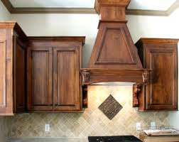 built in decorative vent hood remodeled maple kitchen