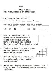 Multiplication Word Problem Worksheets 3rd Grade Math Problems 3 1 ...