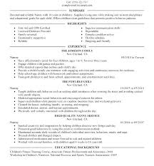 A Simple Resume Sample Nanny Resume Samples Without Experience ...