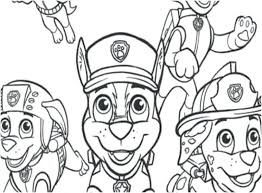 Paw Patrol Free Coloring Pages Paw Patrol Free Coloring Pages