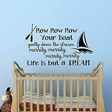 row row row your boat wall art