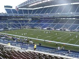 Seattle Seahawks Stadium Seating Chart Rows Centurylink Field View From Middle Level Club 205 Vivid Seats