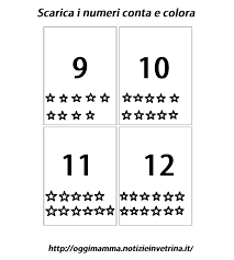 Numeri Da 1 A 12 Scarica Ritaglia Conta E Colora Le Carte Oggi