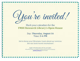 Invitation To Open House Invitation To Fmhi Library Open House Foto Von Hobard_33 Fans