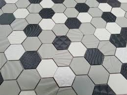 black and white tile floor. Image Of: Daltile Hexagon White Floor Tile Black And