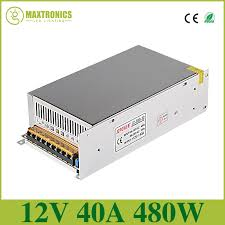 whole 12v 40a 480w dc universal regulated switching power supply led lighting transformers for cctv psu led strip in lighting transformers from lights