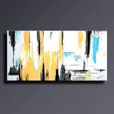gray and yellow canvas art abstract painting yellow gray white black blue painting original canvas art gray and yellow canvas art