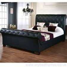 Black leather bed frame California King The Elizabeth Bedframe Is Beautiful Sleigh Frame Design With Both Head And Foot End Having Black Leather Bikemotionco 58 Best Leather Bed Frames Images Leather Bed Frame Beds With