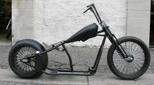 n346 og gangster 250 bobber 23 front with fat spokes malibu