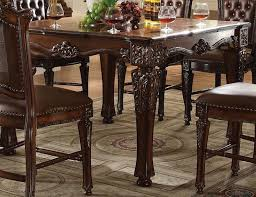 acme vendome square counter height table in cherry 62025 closeout