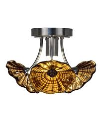amber blown glass metal seashell chandelier