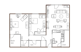 floor plan with furniture. furniture placement floor plan with i