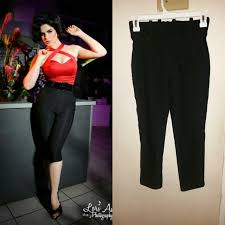 Pinup Girl Clothing Deadly Dames Black Capri Pants Depop