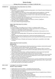 Strategic Planning Resume Examples Director Strategic Planning Resume Samples Velvet Jobs 2