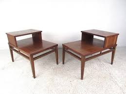 mid century modern two tier end tables by lane for at 1stdibs in table ideas