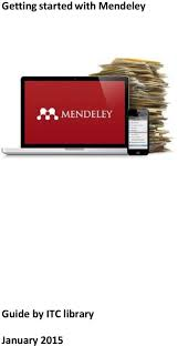 Getting Started With Mendeley Guide By Itc Library Pdf