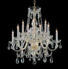 crystorama 1130 pb cl saq 10 light polished brass crystal chandelier dd in
