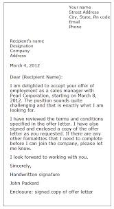 formal letter example acceptance letter sample formal letter samples