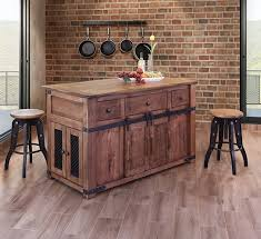 parota wood barn door kitchen island