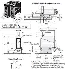 ejm built in power supply photoelectric sensor dimensions omron e3jm dimensions 3