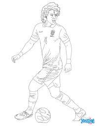 Coloriage Du Joueur De Foot David Luiz Imprimer Gratuitement Ou
