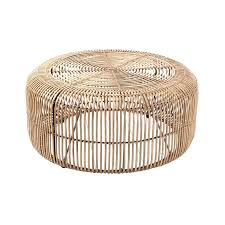 rattan coffee table ottoman side tables round wicker chai
