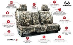 seat covers plus mossy oak and more plus military style storage system ar custom seat covers