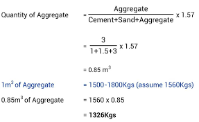 Concrete Calculation Chart Concrete Mix Design Different Grades Of Concrete