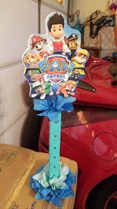 paw patrol wood lollipops stand