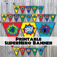 Birthday Banner Printable Superhero Birthday Banner Printable Super Hero Happy Birthday Banner