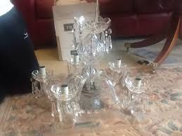 2 waterford crystal comeragh 5 arm chandeliers