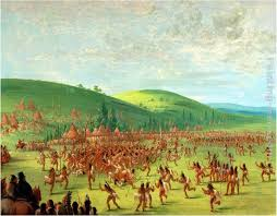 indian ball game painting george catlin indian ball game art painting