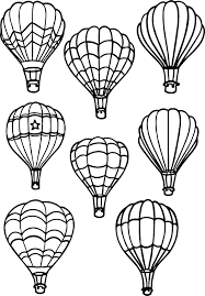 Small Picture All Air Balloon Coloring Page Wecoloringpage