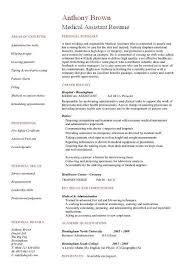 Resume Models Examples Of Medical Assistant Resumes Resume Models