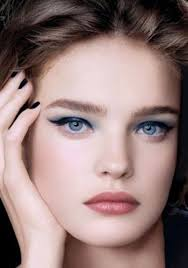makeup are you brown hair and blue eyes your skin plexion should be taken into consideration