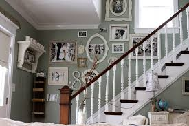 Ideas for decorating staircase walls staircase shabby-chic style with wall  art wall decor wood