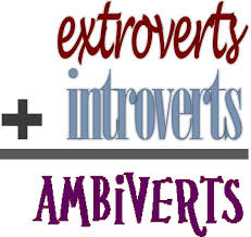 Image result for introvert extrovert ambivert