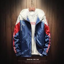 hip hop mens hooded windbreaker jacket 2019 new arrival casual vintage jacket loose track hoo coats streetwear hiphop fur collar jean jacket furry
