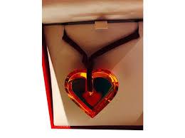 baccarat heart pendant pendant necklaces other orange ref 34899